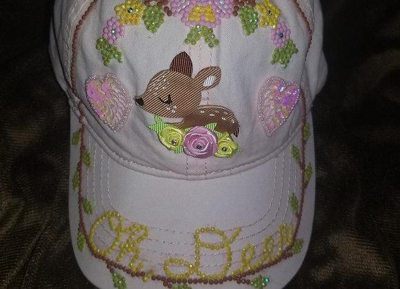 """""""Oh Deer"""" ~Pink Baseball Cap"""