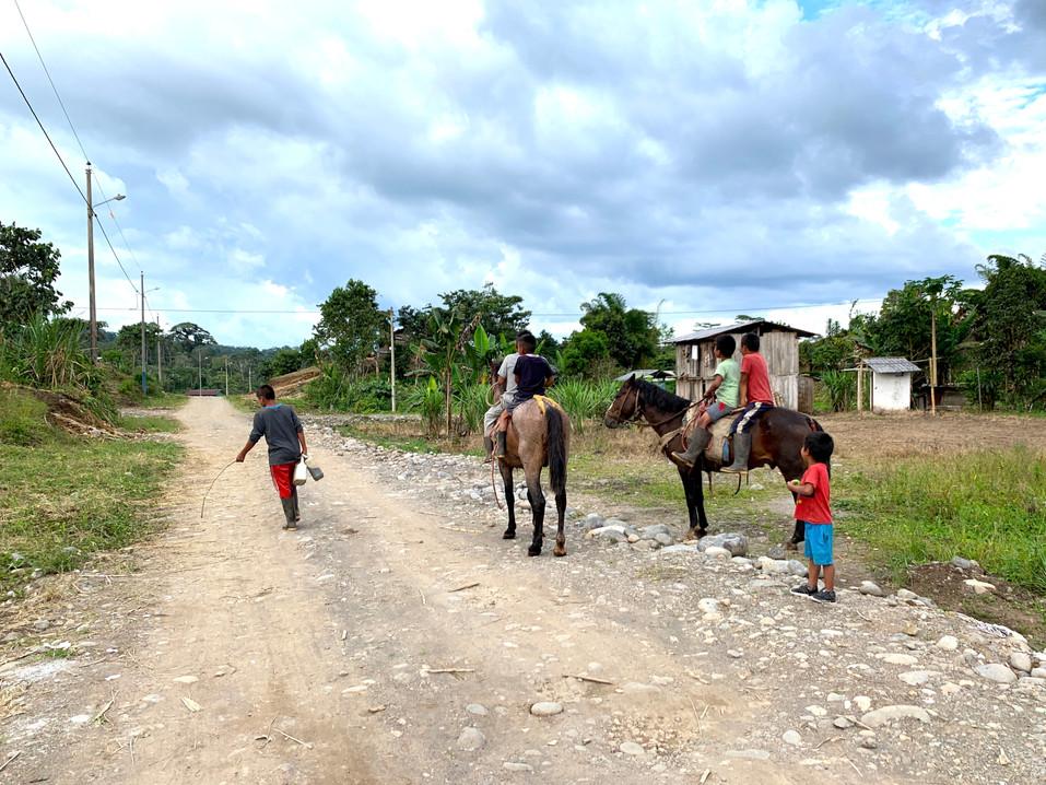 shuar boys on horses.JPG