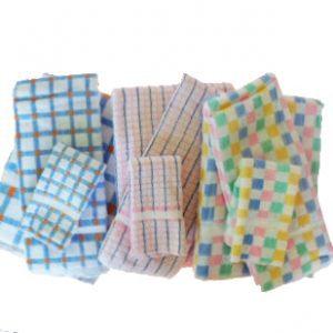 Combo 1 each  Bath Towel, Hand Towel, Washcloth 4 doz/case