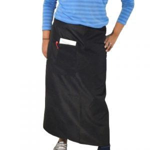 Apron: Black Bistro with Pockets - 36 x 36-10 DOZ / Carton pack