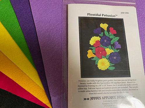 Plentiful Petunias Pattern + Bamboo Felt Kit