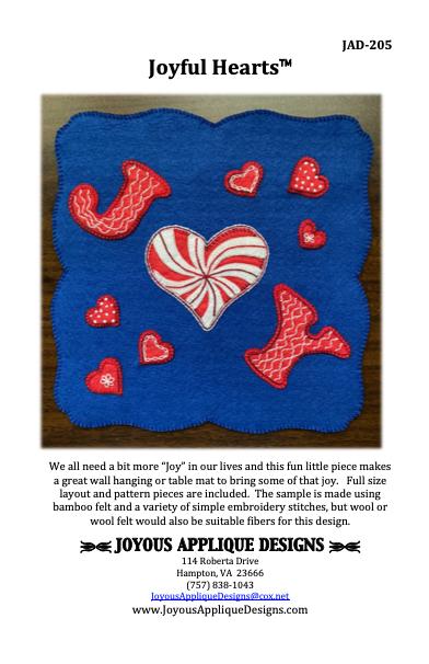 Joyful Hearts Pattern + Bamboo Felt Kit