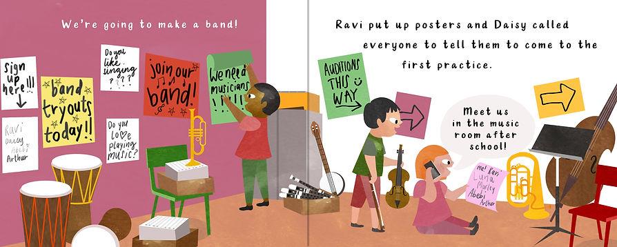 We're Going to Make a Band!, (c) copyright Sara Di Fagandini