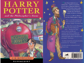 Things I love: Harry Potter first edition book cover.