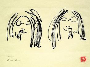 John Lennon, Jock and Yono drawing (1968)