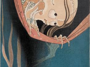 Hokusai's Kohada Koheiji from One Hundred Ghost Tales