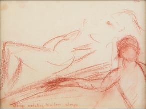 Marilyn Monroe's Conté drawings (c.1960s)