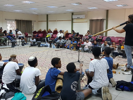 Our Israeli-Ethiopian youth get a chance to explore their musical talents