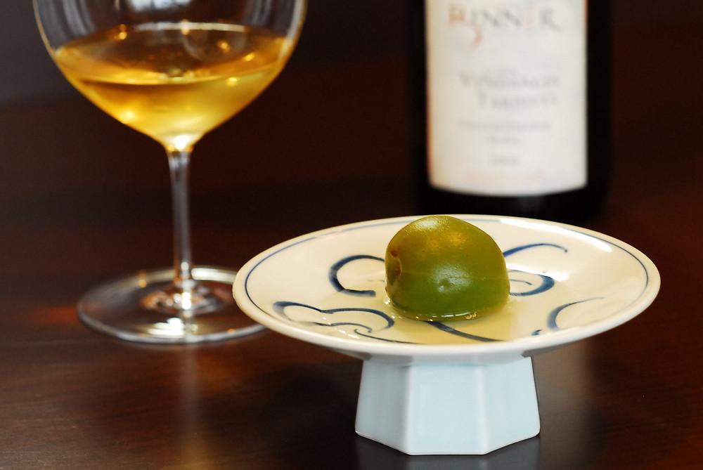 青梅とデザートワイン