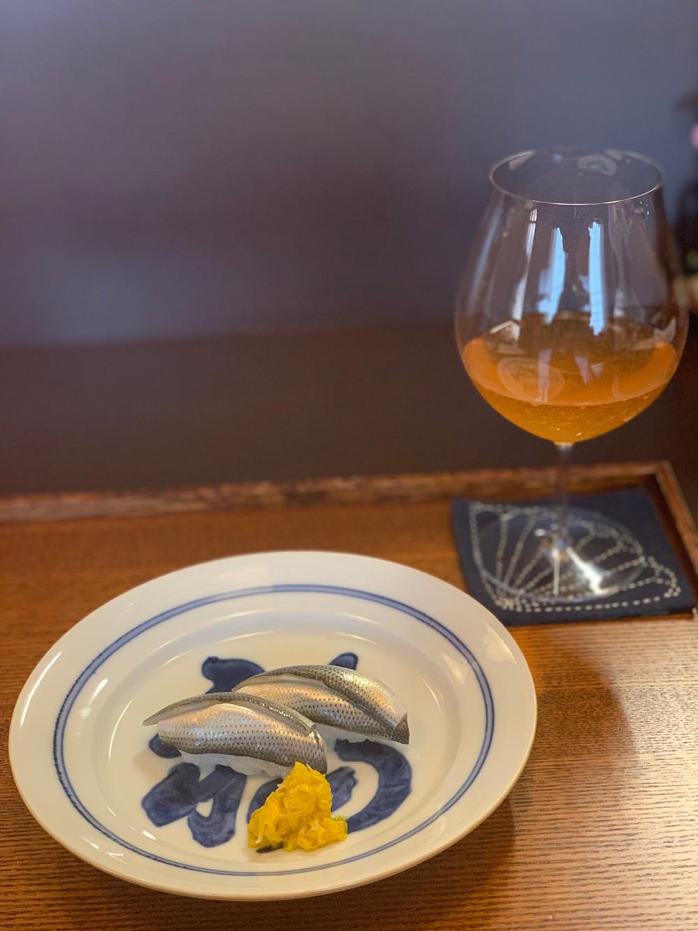 青魚にもワイン