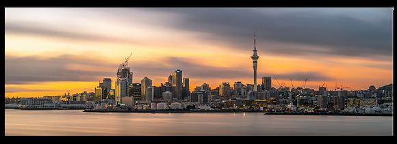 [Canvas] Auckland City Sunrise