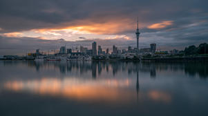 Auckland City Sunrise