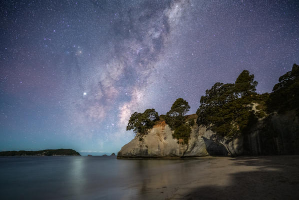 Cathedral Cove Moonlight