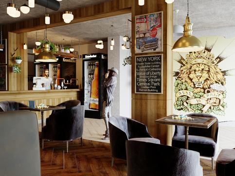 Кафе-бар в Новосибирске.