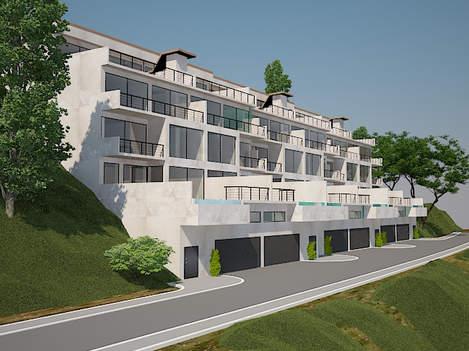 Решение фасада, террас и бассейнов в жилом доме в Ялте