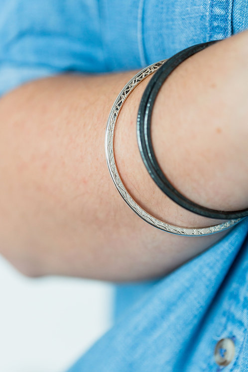 Single French Knit Imprinted Bangle