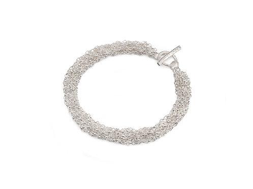 French Knitted Belcher Chain Bracelet
