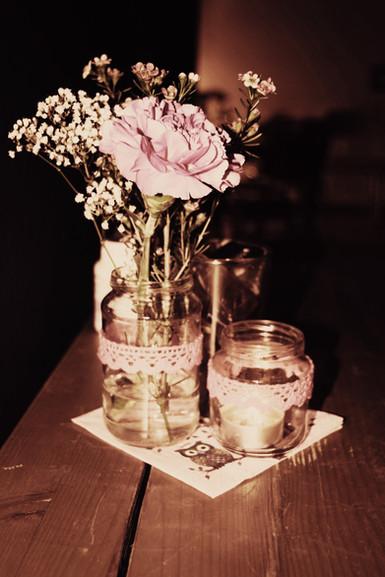 muchas flores ...