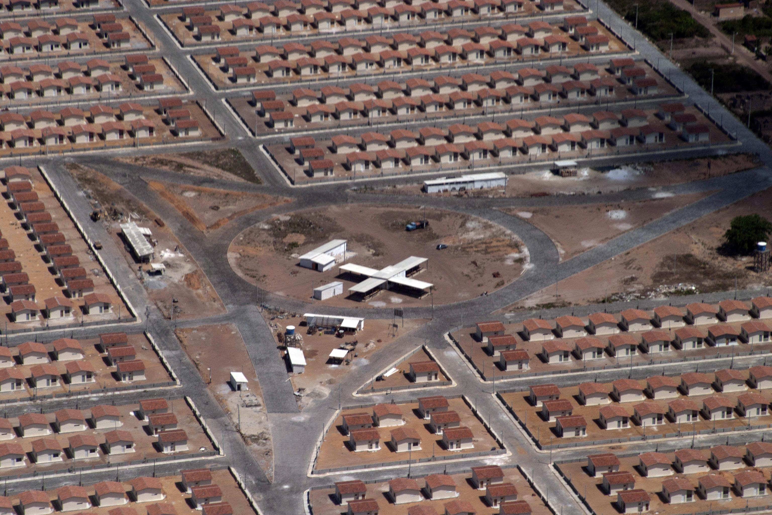 Vista aérea canteiro de obras