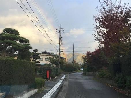 2017.11月:虹がでていました!