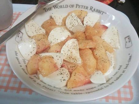 2016 8月:桃モッツァレラが美味しい!