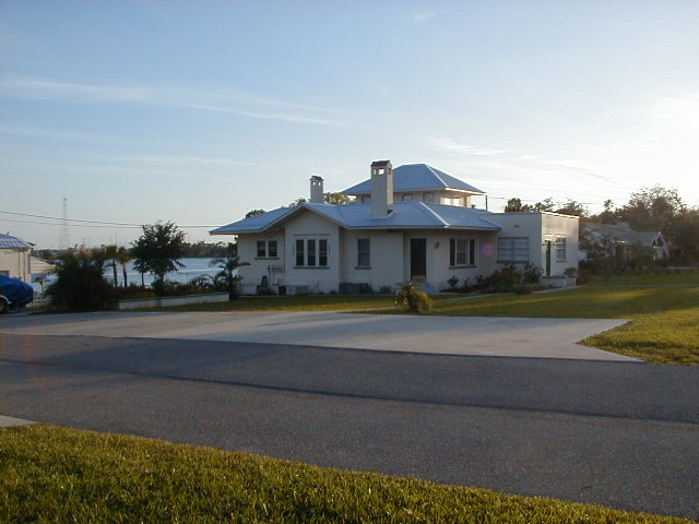 Outside after metal roof on main bldg._ cottage and picnic.JPG