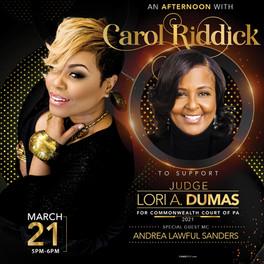Carol Riddick Concert / Judge Lori Dumas Fundraiser