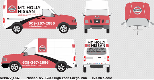 Nissan Service Truck wrap