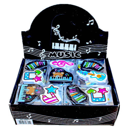 Cute Music Erasers Set