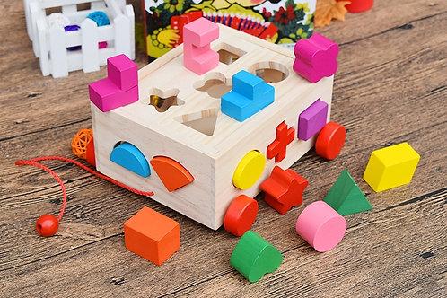 Wooden Puzzle Blocks Cart