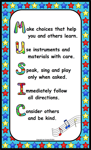 Music Room Rules Poster