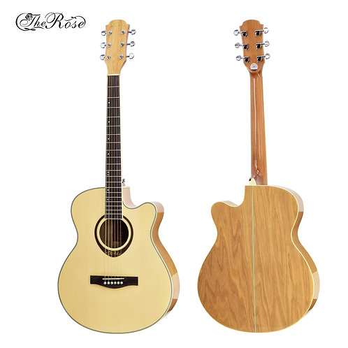 "The Rose Acoustic Guitar (40"",41"" Spruce Wood, W/O Pickup)"