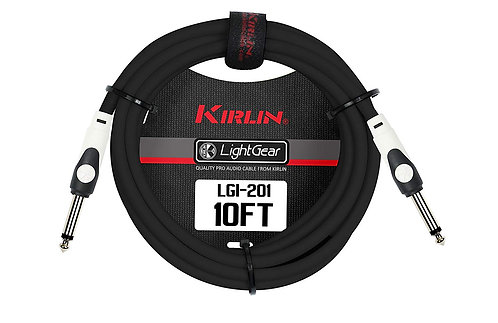 Kirlin 1/4'' Straight Jack Cable (3m-20m)
