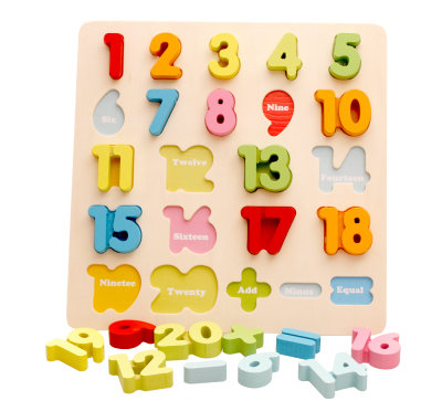 Numbers 1-20 Wood Puzzle