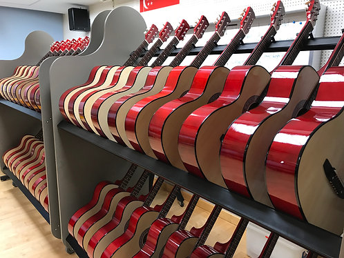 Custom 2 Level Guitar Rack W/ Wheels