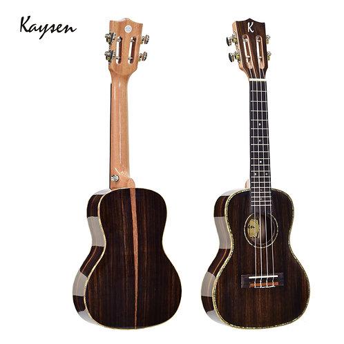 """Kaysen Ukulele (24"""" Ebony Wood, W/O Pickup)"""