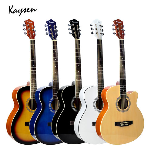 "Kaysen Acoustic Guitar (39"",40"" Bass Wood, W/O Pickup)"