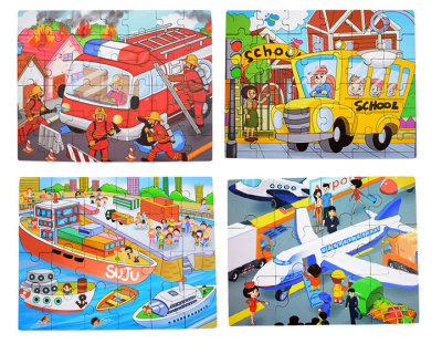 4-In-1 Transport Puzzle Set