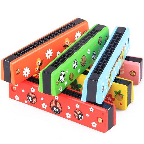 Colourful Harmonica 16 Holes