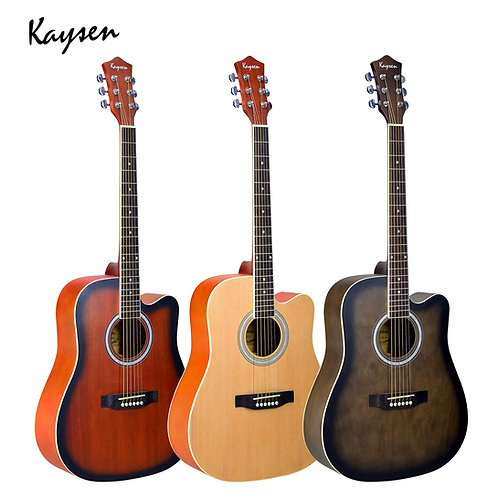 "Kaysen Acoustic Guitar (41"" Spruce/ Sapele/ Willow Wood, W/O Pickup)"