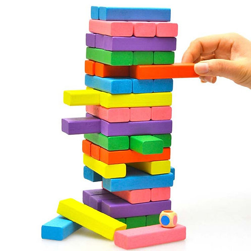 Colour Jenga Blocks