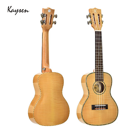 "Kaysen Ukulele (24"" Tiger Maple, W/O Pickup)"