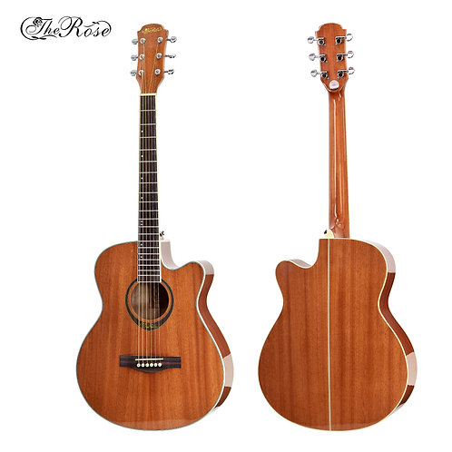 "The Rose Acoustic Guitar (40"",41"" Sapele Wood, W/O Pickup)"