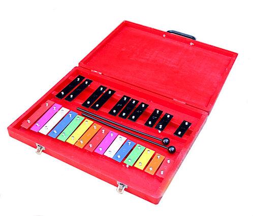 Colour Glockenspiel (25 Keys Wood Case)
