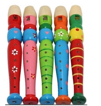 Colourful Wood Recorder