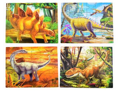 4-In-1 Dinosaur Puzzle Set