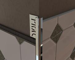 Угол для плитки наружный, из нержавеющей стали