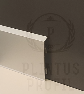 Плинтус с кабель каналом, на клипсе (2158)  70 х 10 х 3000 серебро матовое.