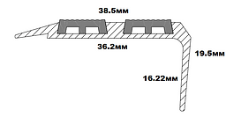 Порог угловойSMP 38*20