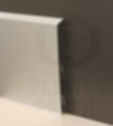 Плинтус с кабель каналом, на клипсе (2642)  100 х 10 х 3000 серебро матовое.